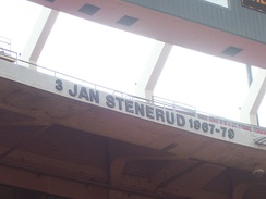Jan Stenerud's name was honored at Arrowhead Stadium's ring of honor