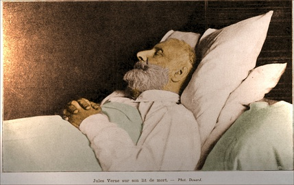 Jules Verne on his deathbed