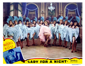 Colored lobby card circa January 1942.