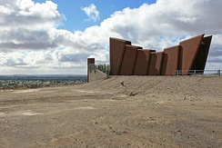 Miner's Memorial at the Line of Lode mine, commemorating over 800 workers who lost their lives working the mine