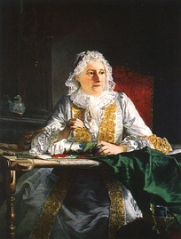 Portrait of Mme Crozat (1670–1742) by Joseph Aved (exhibited at the Salon of 1741)Montpellier, Musée Fabre