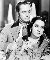 Fredric March and Shearer in The Barretts of Wimpole Street, 1934