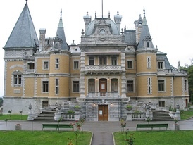 Massandra Palace in Crimea, a château of Tsar Alexander III, completed in 1900