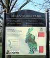 Map sign for Meanwood Park and Meanwood Valley Trail