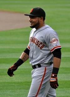 Cabrera with the San Francisco Giants in 2012