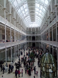 The Grand Gallery of the former Royal Museum building on reopening day, 29 July 2011