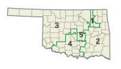 Oklahoma districts in these elections