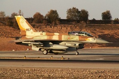 Israeli Air Force Block 52+ based F-16I with CFTs and dorsal spine