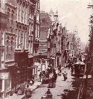 Vijzelstraat looking towards the Muntplein in 1891