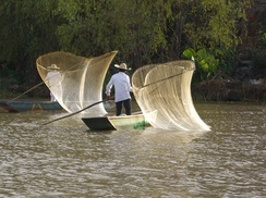 Fishermen in Lake Pátzcuaro