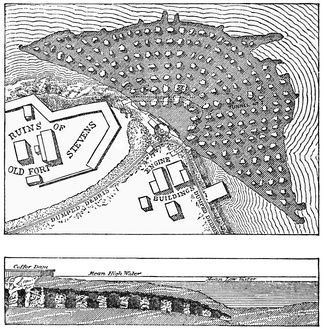 The excavations and tunnels used to undermine Hallert's Point