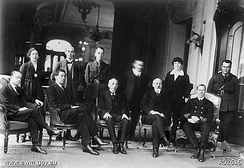 The Australian delegation, with Australian Prime Minister Billy Hughes in the center