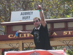 Burrell in the Giants' 2010 World Series victory parade