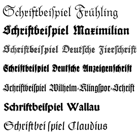 Fraktur fonts by Rudolf Koch