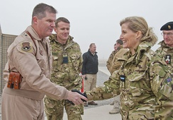 Sophie dressed as Honorary Air Commodore on a visit to Kandahar, December 2011