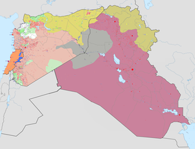 000000002018-04-13-0000April 13, 2018 military situation:   Controlled by Iraqi government   Controlled by the Islamic State in Iraq and the Levant (ISIS)   Controlled by Iraqi Kurds   Controlled by Syrian government   Controlled by Syrian rebels   Controlled by Syrian Kurds