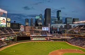 View of downtown Minneapolis from Target Field, May 14, 2014