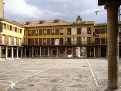 Plaza Mayor  with colonnades.