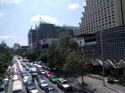 Bangkok is notorious for its traffic congestion.