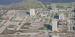 Developed in the early 1950s, Tunney's Pasture is an area that holds a number of federal government buildings. The federal government is the city's largest employer.