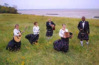 "Official US Air Force Band photo for ""Celtic Aire"" Ensemble (active duty ""Mitchell"" tartan)"