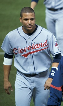 Martínez with the Cleveland Indians in 2008