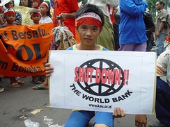 World Bank Protester, Jakarta, Indonesia.