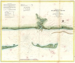 U.S. Coast Survey map or nautical chart of St. George Sound, Florida, the coast part of Tate's Hell State Forest, just southwest of Tallahassee, along the Florida Panhandle (1859)