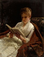 Portrait of a woman reading, 1881, Yekaterinburg Museum of Fine Arts [ru]