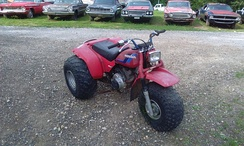1984 Honda ATC200S, one of the many three-wheeled models made by Honda and other manufacturers