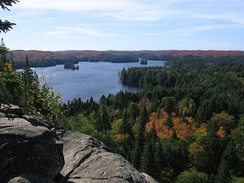 Algonquin Provincial Park, Cache Lake in the autumn of 2006.