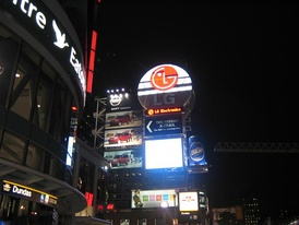 Billboards at Dundas Square in Toronto, owned by Clear Channel.