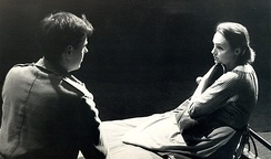 Danilo Benedičič as Leslie and Majda Potokar as Teresa in a 1963 play by Ljubljana Slovene National Theatre Drama
