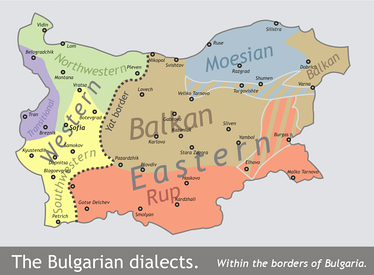 Map of the Bulgarian dialects within Bulgaria