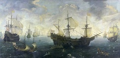 The Spanish Armada off the English coast