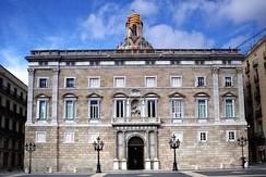 Palau de la Generalitat de Catalunya, Barcelona, seat of the Government and the Presidency of Catalonia