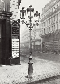 "In the 1860s, Paris streets and monuments were illuminated by 56,000 gas lamps, giving it the name ""The City of Light."""