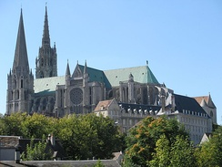 Chartres Cathedral, France, a famous landmark that draws both pilgrims and art lovers.