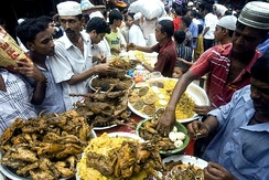 Iftar items being sold during Ramadan at Chowk Bazaar in Dhaka