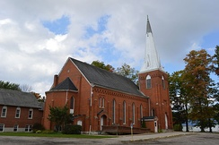 The Congregational Church of Austinburg, organized in 1801, is the second oldest Congregational church in Ohio and the oldest in the Western Reserve. The current building dates to 1877.[60]