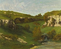 La source de la Loire, by Gustave Courbet.