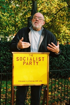 Arguing against capitalism, Speakers' Corner, 31 October 2004