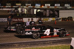 Jones' 2010 ASA North Late Model that he won with at the La Crosse