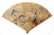 Japanese foldable fan of late Heian period (12th century)