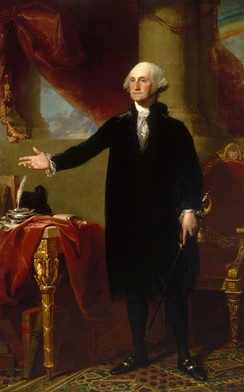 The Lansdowne portrait of George Washington.