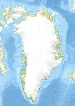 Map showing the location of Midgard Glacier