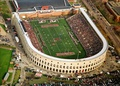 Aerial view of the 2006 Harvard-Yale game – the Murr Center (built in 1998) now sits across the open end of the stadium.