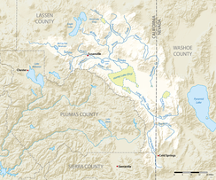Map of Honey Lake watershed