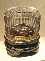 Insect-Cage Incense Burner, late 19th to early 20th century, by Tetsunao, Japan.