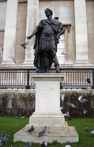 1686 statue of James II in Trafalgar Square, London